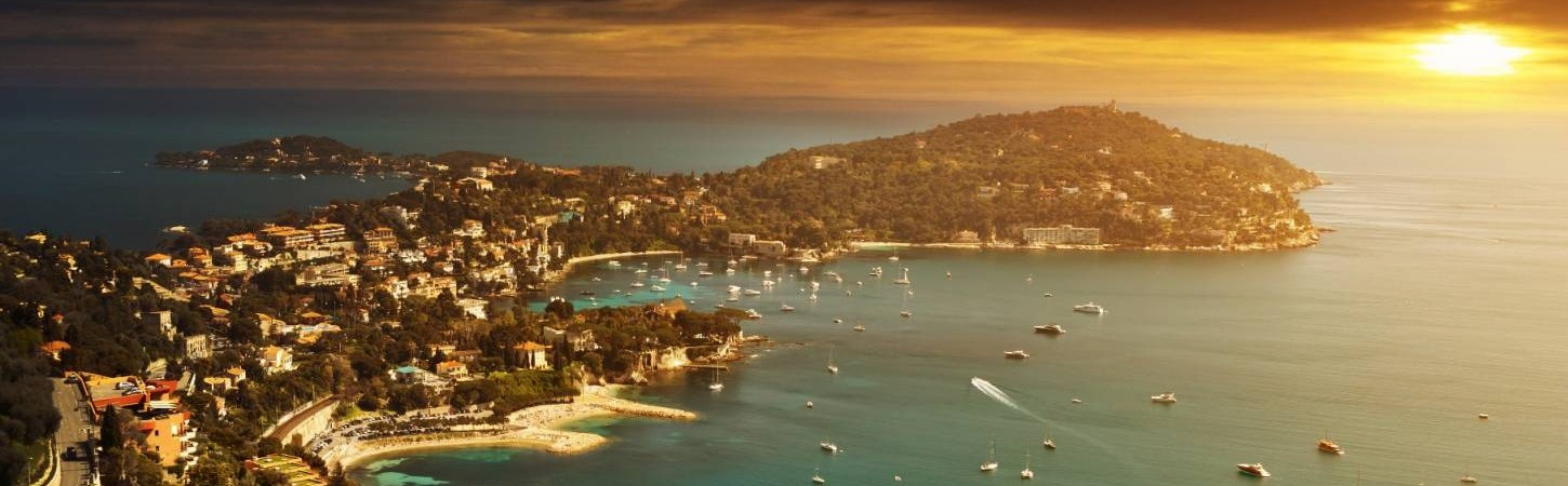 Sunset over France Riviera
